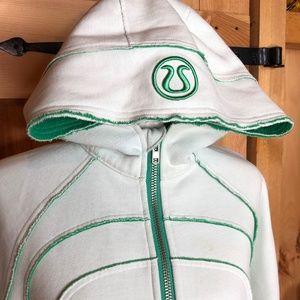 lululemon   scuba hoodie mint + green raw edge 10